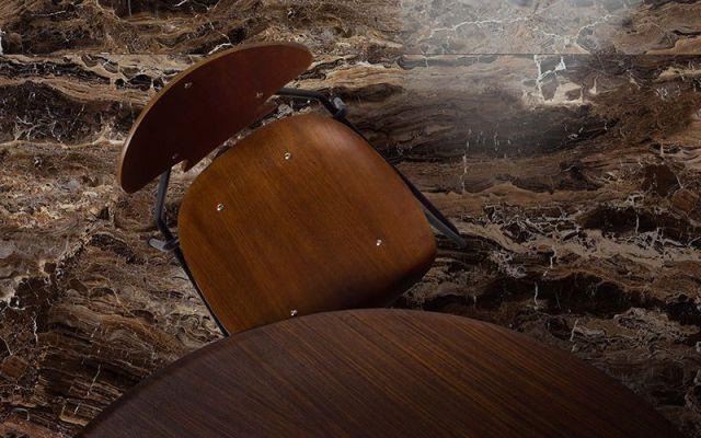 De keramische marmer imitatie in natuursteen look frappuccino