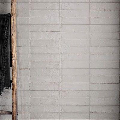 Retro verouderde keramische wandtegels 6x24cm in kleur wit