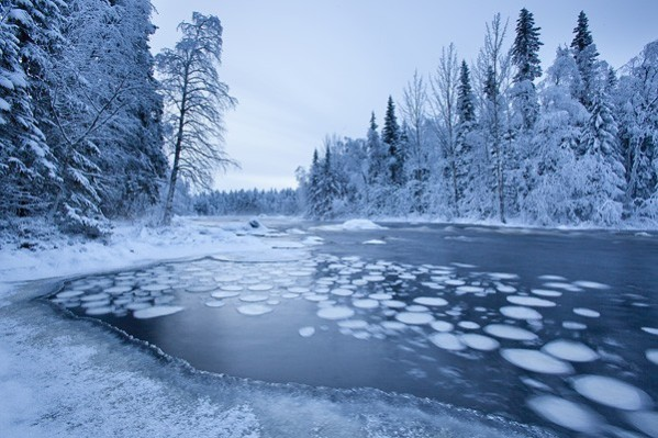 Simo River in Winter
