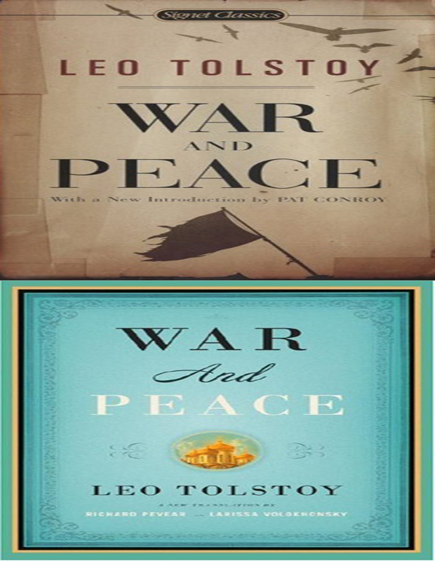 war and peace book cover photo