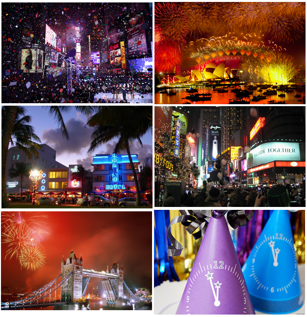 top ten best places for New Years Eve