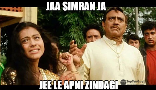 Jaa simran ja, jee le apni zindagi - Best Hindi Movie Dialogues