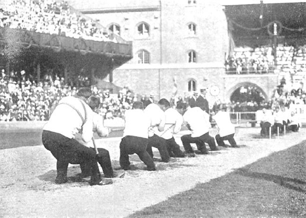 Tug of war was contested as a team event in the Summer Olympics at every Olympiad from 1900 to 1920