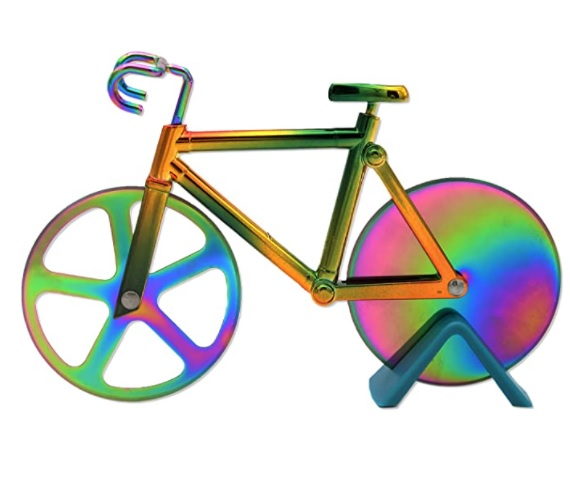 Stainless Steel Rainbow Bicycle Pizza Cutter