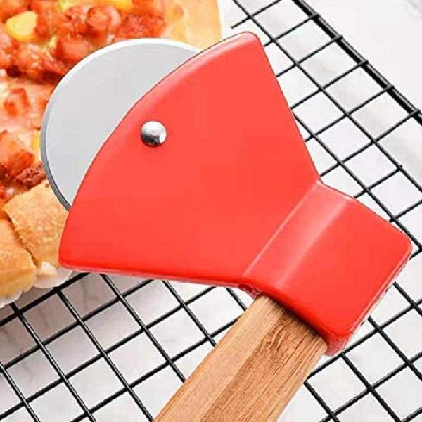 Wooden Axe Pizza Cutter