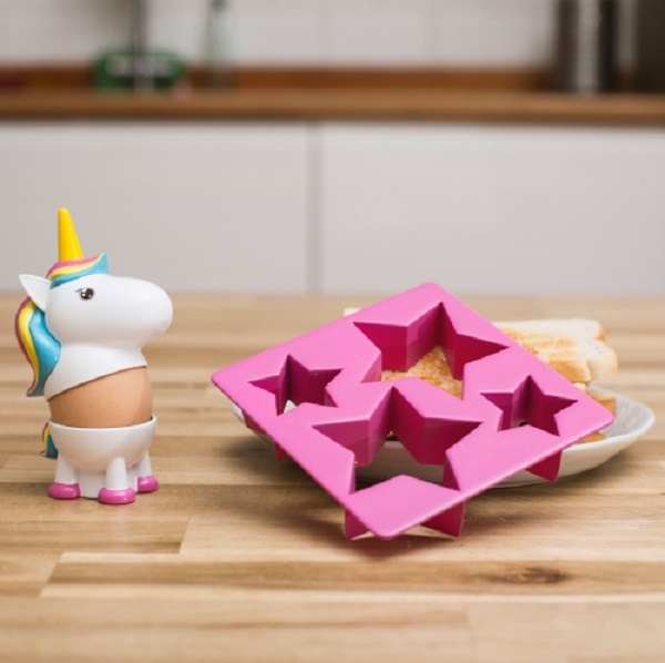 Unicorn Egg Cup and Toast Cutter Set