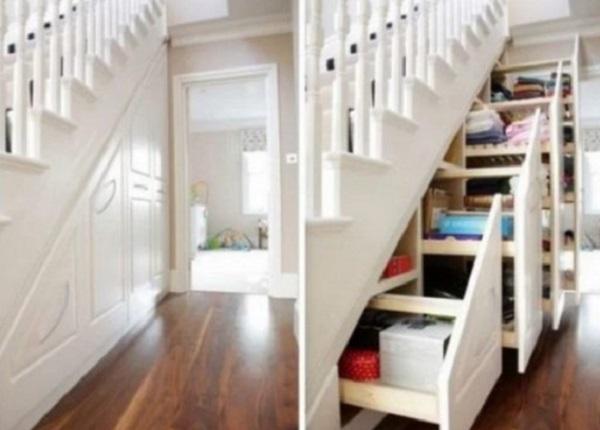 Storage Idea Under Staircase