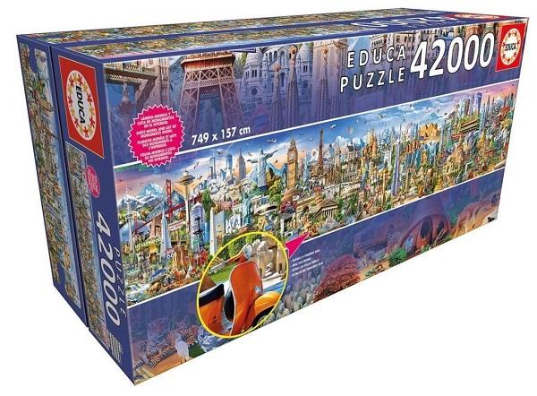 Educa Around The World Puzzle - 42,000 Puzzle Pieces