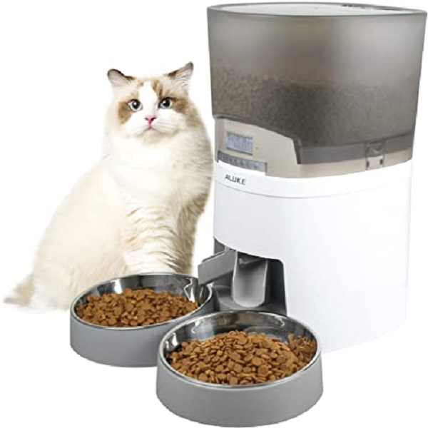 Aluke 7L Two-Pet Cat Feeder