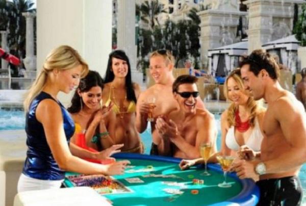 Casino in a Swimming Pool