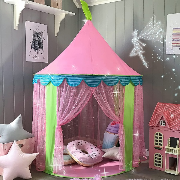 Tiny Land Princess Castle Play Tent With Glitter Dot