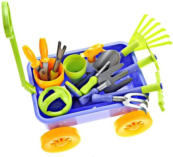 Dimple Garden Wagon & Tools