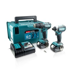 Toptopdeal-Makita DLX2283TJ 18V 5 0Ah Li-Ion LXT Brushless Cordless Combi Drill & Impact Driver Twin Pack
