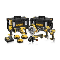 Toptopdeal-co-uk Dewalt DCK623P3 18V Brushless 6 Piece Kit 3 X 5 0Ah Batteries With Charger & 2 X Kit Boxes