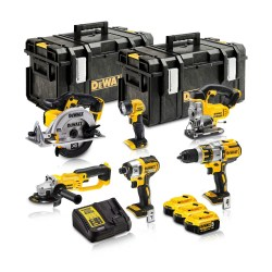 Toptopdeal-co-uk Dewalt DCK694P3 18V Brushless 6 Piece Kit 3 X 5 0Ah Batteries With Charger & Kit Boxes