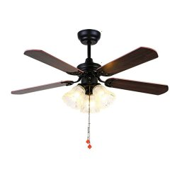 Toptopdeal-Ceiling-Fans-KBS-3603--Heavy-LED-Light-Ceiling-Fan-80cm-36--E27X3-with-5-Wooden-Blades--Remote-Control
