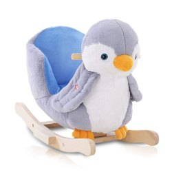 Toptopdeal-HOMCOM-Children-Kids-Animal-Rocking-Horse-Penguin-Plush-Musical-Button-32-Songs-Kid-Rocker