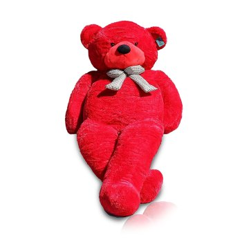Toptopdeal-Joyfay®-Giant-Teddy-Bear-Big-Teddy-Bear-XXL-Extra-Large-Plush-Bear-Toy-Best-Gift-for-Birthday-Christmas-Valentine-Anniversary-(230-cm--wine-red)