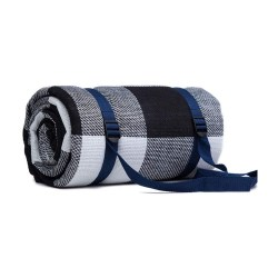 Toptopdeal Lefran Extra Large Plaid Picnic Blanket Waterproof Backing