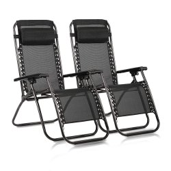 Toptopdeal-Reclining-Zero-Gravity-Chairs-Black-Heavy-Duty-Folding-Portable-Design-Relaxing-Chair-Sun-Lounger-Garden-Furniture-Outdoor-Beach-Pool