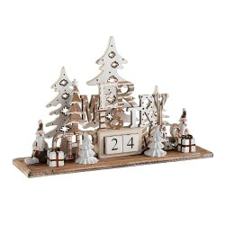 Toptopdeal-WeRChristmas-Wooden-Christmas-Scene-Advent-Calendar-Decoration