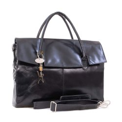 Toptopdeal-uk-Catwalk-Collection-Handbags---Ladies-Extra-Large-Leather-Briefcase-Shoulder-Cross-Body-Bag---Women's-Organiser-Work-Bag---Laptop-Bag-With-Padded-Compartment---HELENA---Black