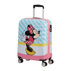 Toptopdeal-American-Tourister-Wavebreaker-Disney---Spinner-S-Hand-Luggage,-Multicolour-(Minnie-Pink-Kiss),-55-cm,-36-Litre