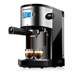 toptopdeal 20 Bar Espresso Coffee Machine With Foaming Milk Frother Wand 1 Or 2 Shot