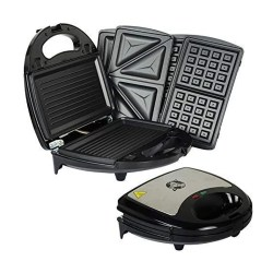 toptopdeal 750W Kitchen 3 in 1 Sandwich Toaster Waffle Maker Iron Toast Grill Panini Press by Crystals®