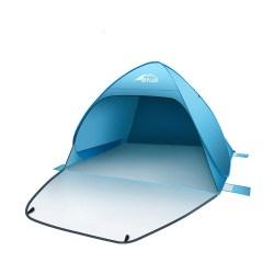 toptopdeal BFULL Pop Up Tent Beach Tent for 2-4 Man, Automatic Sun Tents Anti UV Compact Tent for Beach, Garden, Camping, Fishing, Picnic
