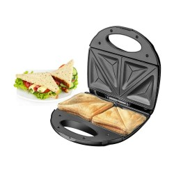 toptopdeal Belaco Sandwich Maker 2 Slice Sandwich Toaster Machine Non-Stick Easy Clean 750W Triangle Cooking, Non-Stick Coating Plate