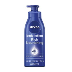 toptopdeal NIVEA Rich Nourishing Body Lotion (400ml), 48hr Replenishing Body Lotion, Intensive Moisturising Cream with Almond Oil, Creamy Hydrating Formula