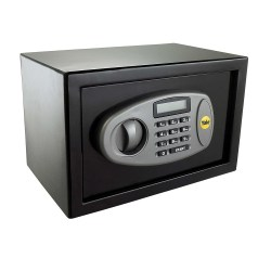 toptopdeal Yale Y-SS0000NFP Small Digital Safe-Steel Construction-Steel Locking Bolts- LCD Display-Emergency Override Key-Wall And Floor Fixings- Black Finish- 8