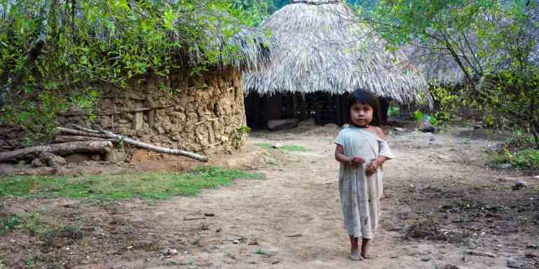 Little girl living in one of the villages along the hike to the Lost City, Colombia