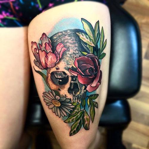 Badass Flower Tattoos