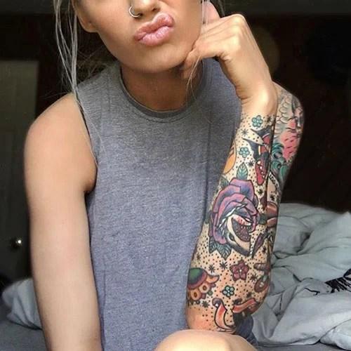 Cute Flower Tattoo Designs For Girls