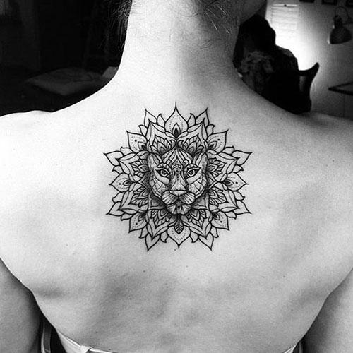 Cute Flower Upper Back Tattoos