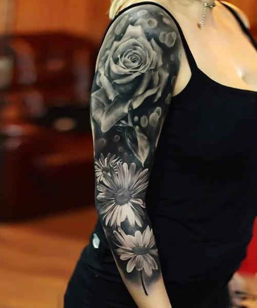 Full Sleeve Flower Tattoos For Women