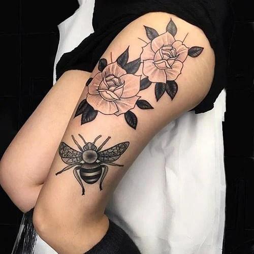 Full Thigh Tattoo Ideas For Women