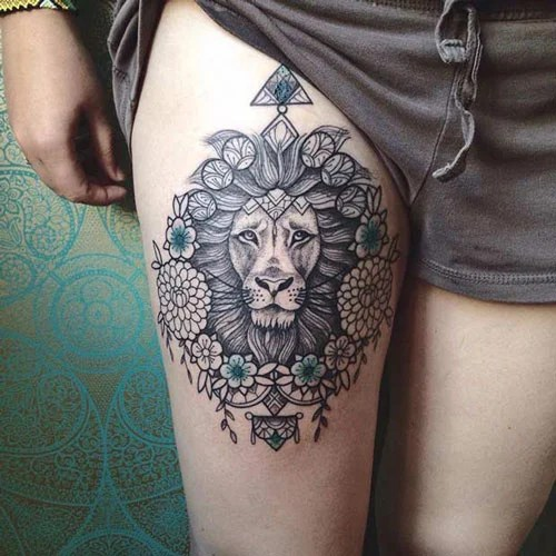 Sexy Front Thigh Tattoo Ideas