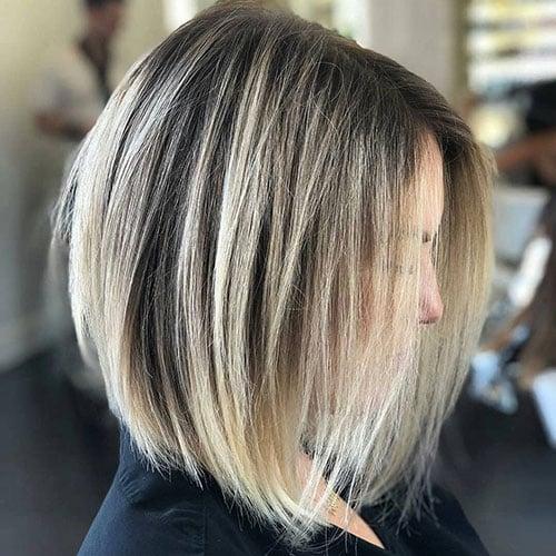 Shoulder-Length Inverted Bob Haircut