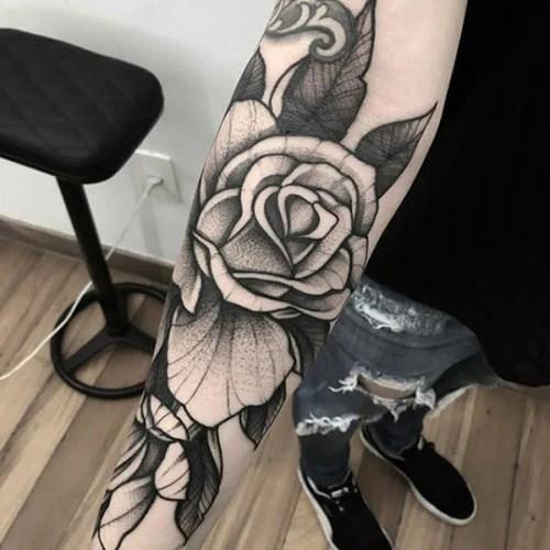 Black and White Rose Tattoo Ideas