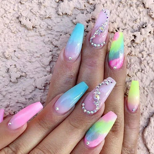Cute Coffin Shaped Nails
