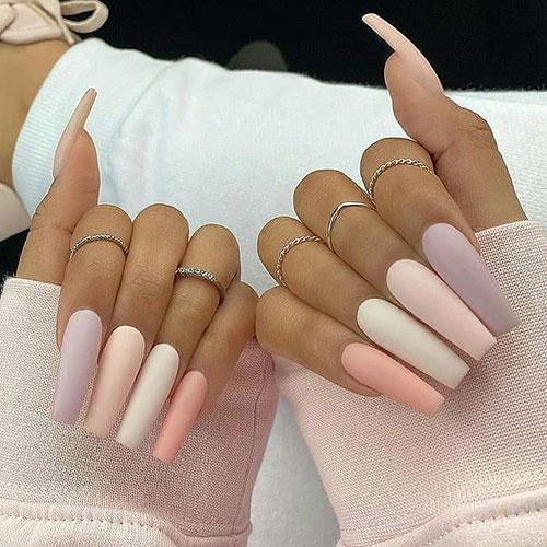 Идеи для ногтей в форме длинного гроба