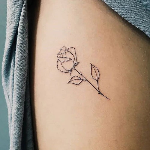 Simple Rose Tattoo Designs