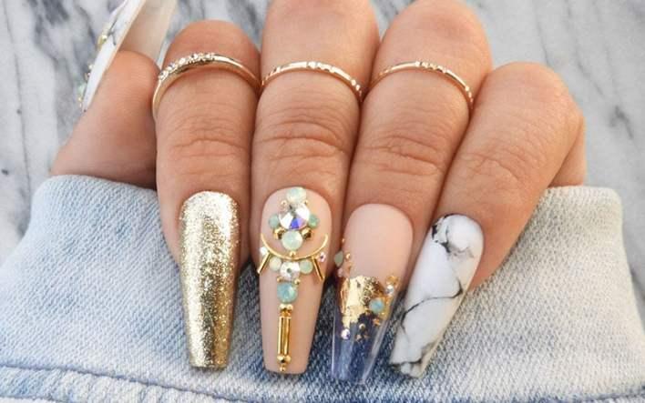 Лучший дизайн ногтей в форме гроба