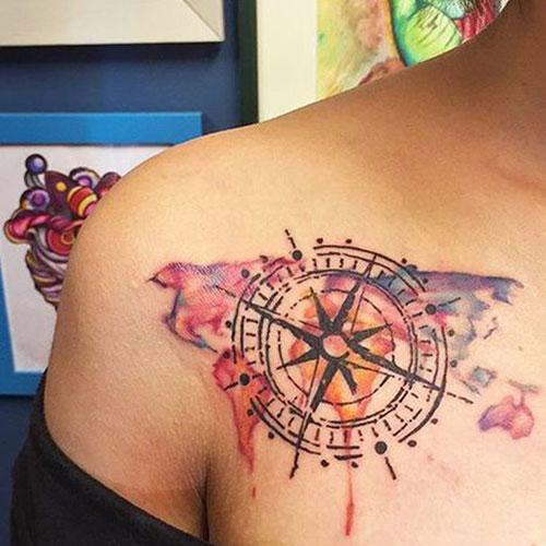 Compass Chest Tattoo