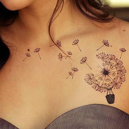 Dandelion Chest Tattoo