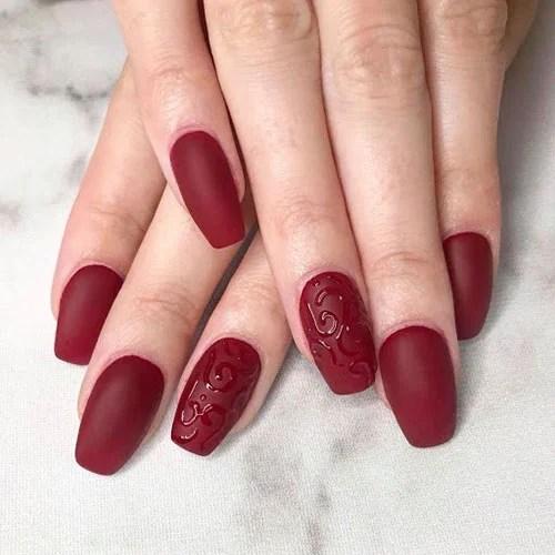 Matte Red Nail Designs
