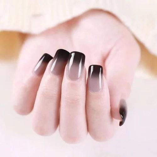 Ombre Black Nails